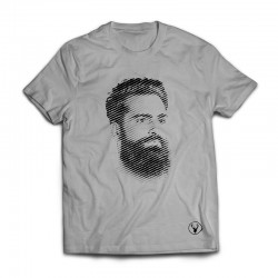 The Face TEE - Black on Grey