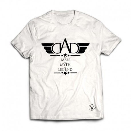 DAD - TMTMTL - TEE - Black on White